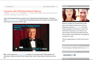 Interview with TCM Host Robert Osborne