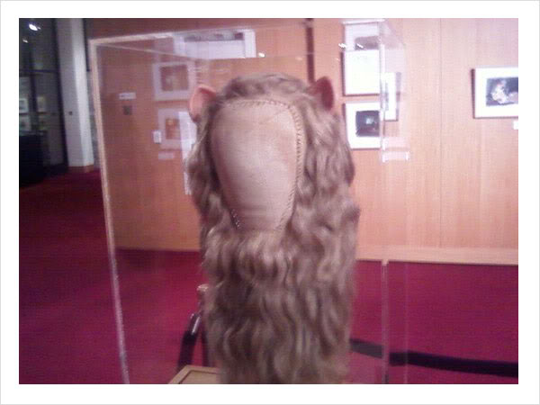 Bert Lahr's wig for the Cowardly Lion the Wizard of Oz