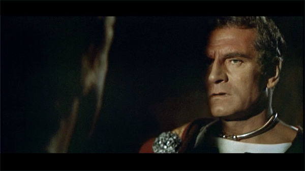 Laurence Olivier and Kirk Douglas in Spartacus