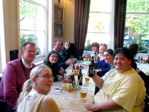 Our group at the pub