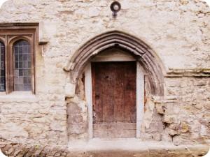 Notley Abbey side door