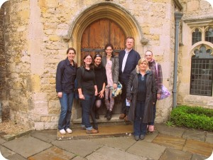 Group shot at Notley Abbey