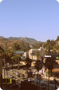The Hollywood sign and the hills