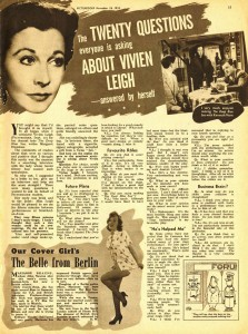 20 questions about Vivien Leigh