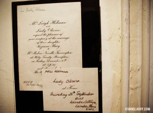 Vivien Leigh Suzanne Farrington wedding invitation Topsham Museum