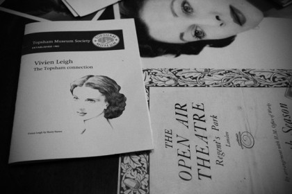 Vivien Leigh at the Topsham Museum, Devon
