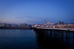 Evening on Brighton Pier