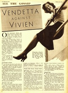 Vendetta Against Vivien Leigh, Picturegoer