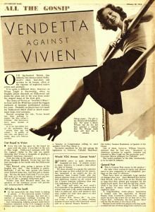 Vendetta Against Vivien Leigh, Picturegoer