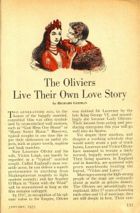 Vivien Leigh and Laurence Olivier live their own love story