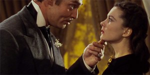 Clark Gable and Vivien Leigh in Gone with the Wind