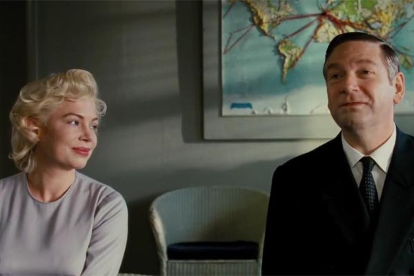 Michelle Williams and Kenneth Branagh as Marilyn Monroe and Laurence Olivier in My Week with Marilyn