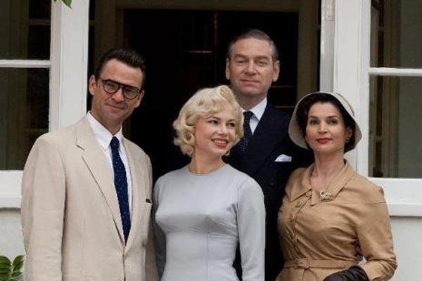 Arthur Miller, Marilyn Monroe, Laurence Olivier and Vivien Leigh in My Week with Marilyn