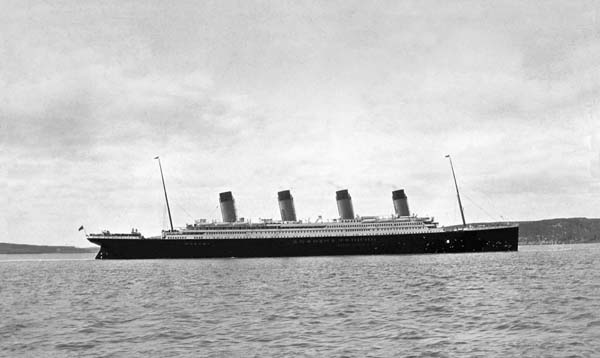 Titanic at Queenstown Ireland