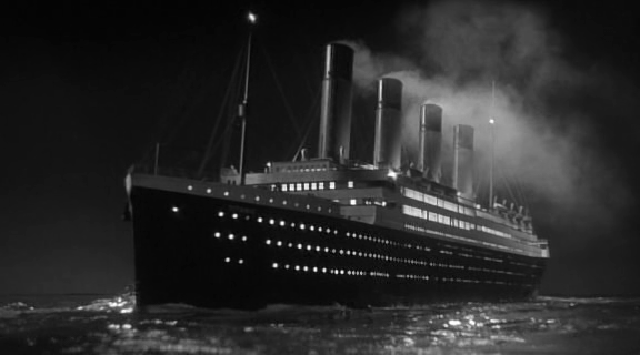 Titanic in A Night to Remember