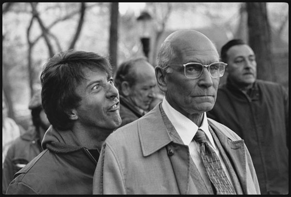 Dustin Hoffman And Laurence Olivier On The Set Of Marathon Man