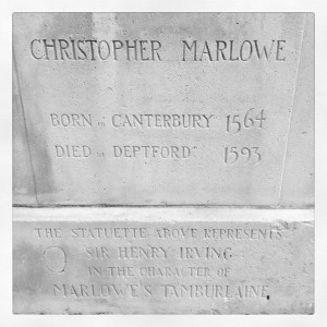Christopher Marlowe statue, Canterbury