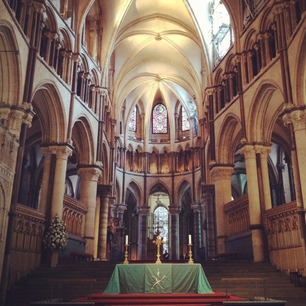The Archbishop's seat, Canterbury Cathedral