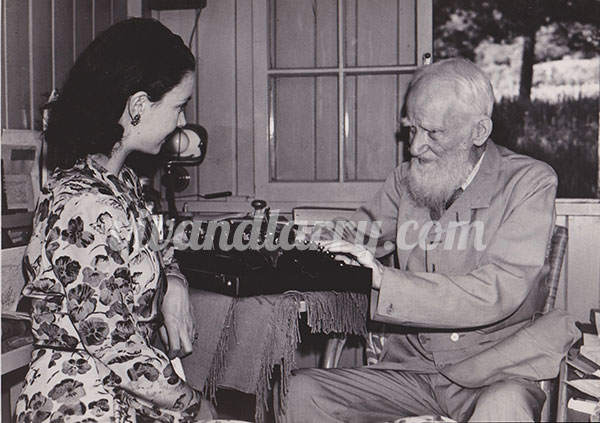 Vivien Leigh and George Bernard Shaw