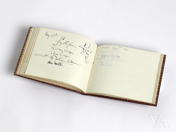 Notley Abbey guestbook, Vivien Leigh Laurence Olivier