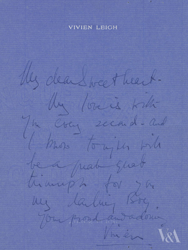 Vivien Leigh letter to Laurence Olivier