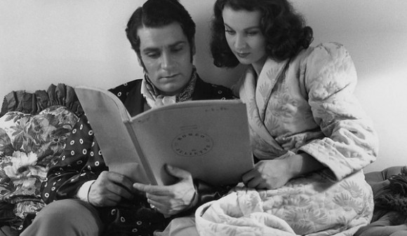 Vivien Leigh Laurence Olivier reading