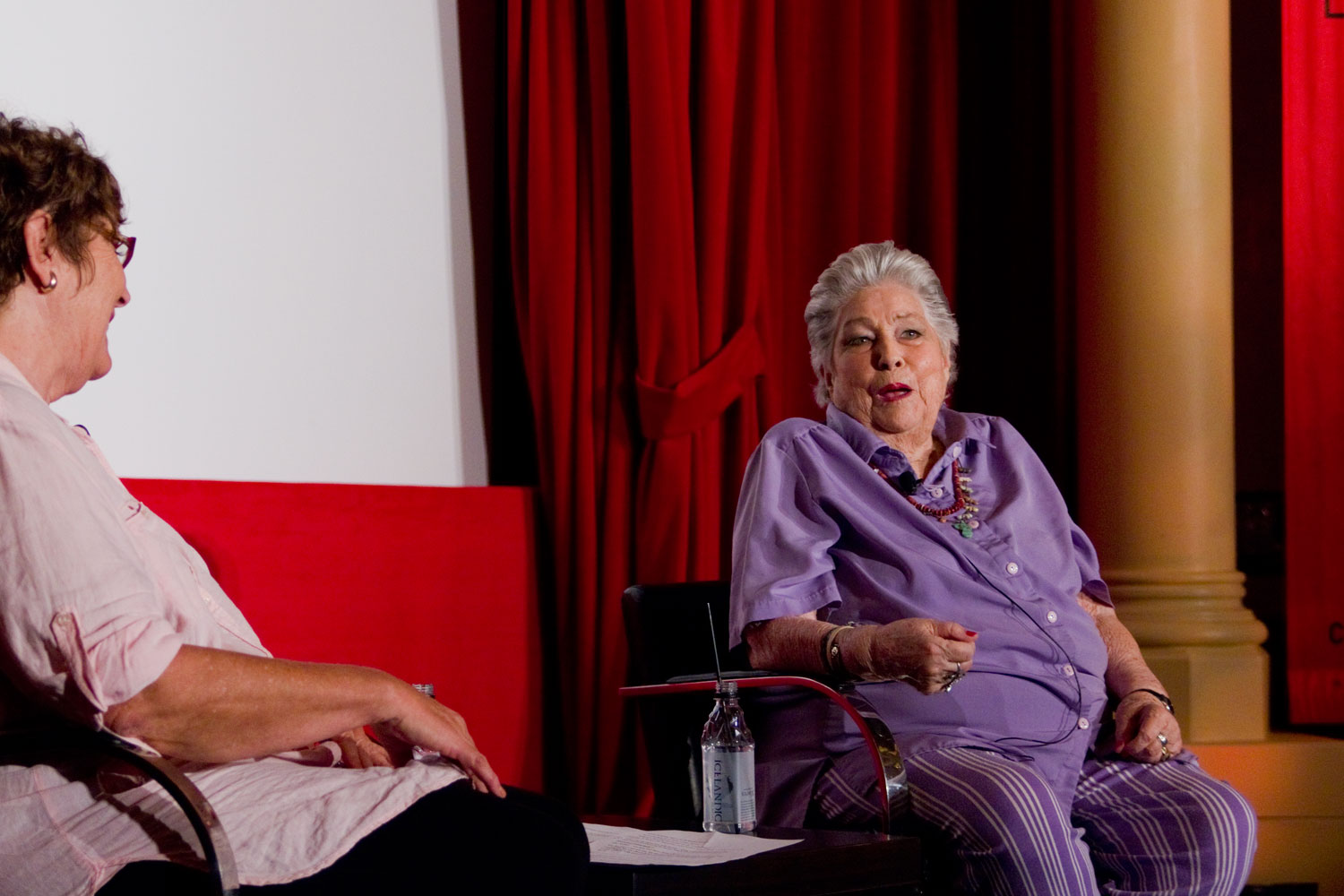 Carrie Beauchamp interviewing editor Anne V. Coates
