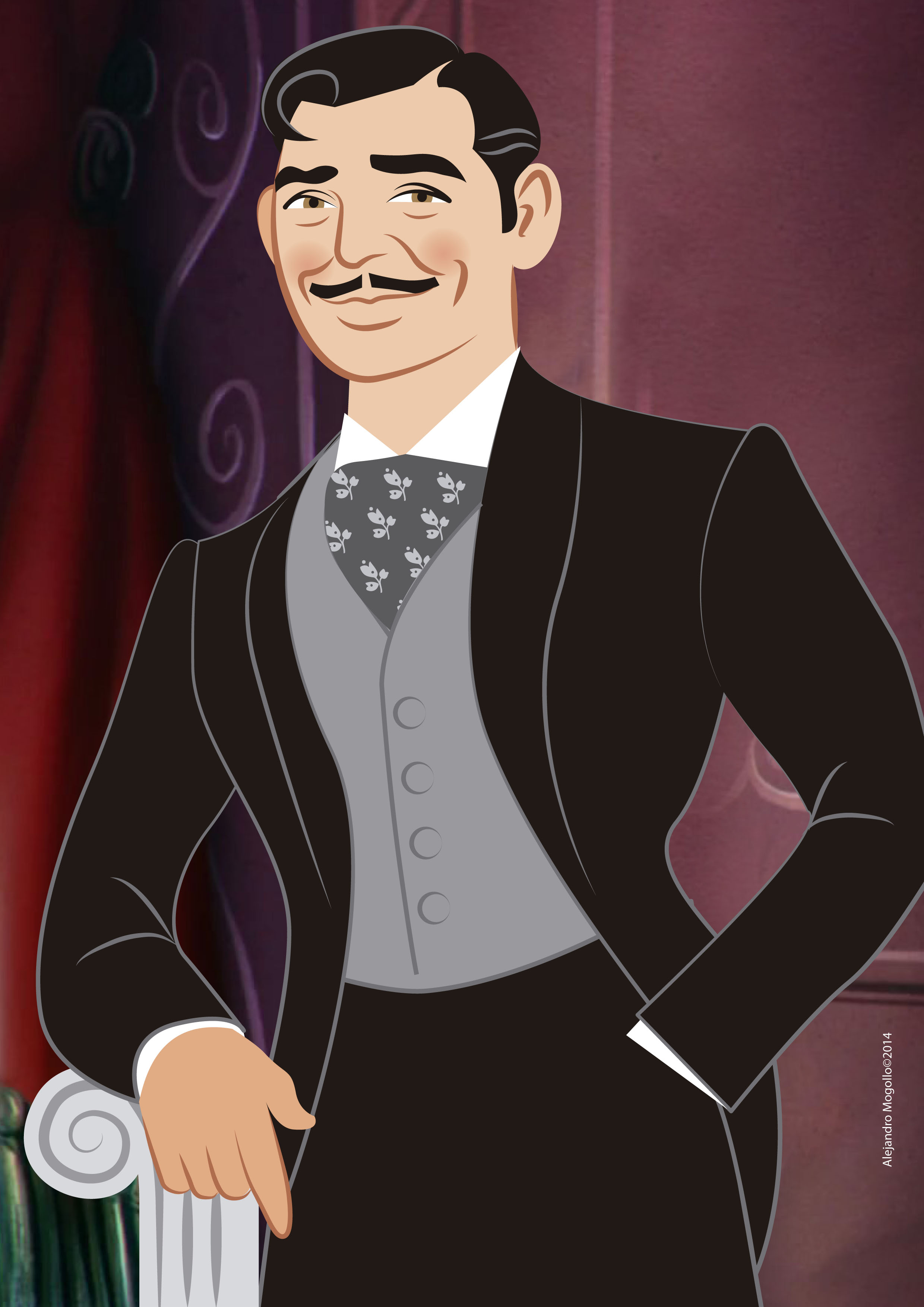 Rhett Butler illustration
