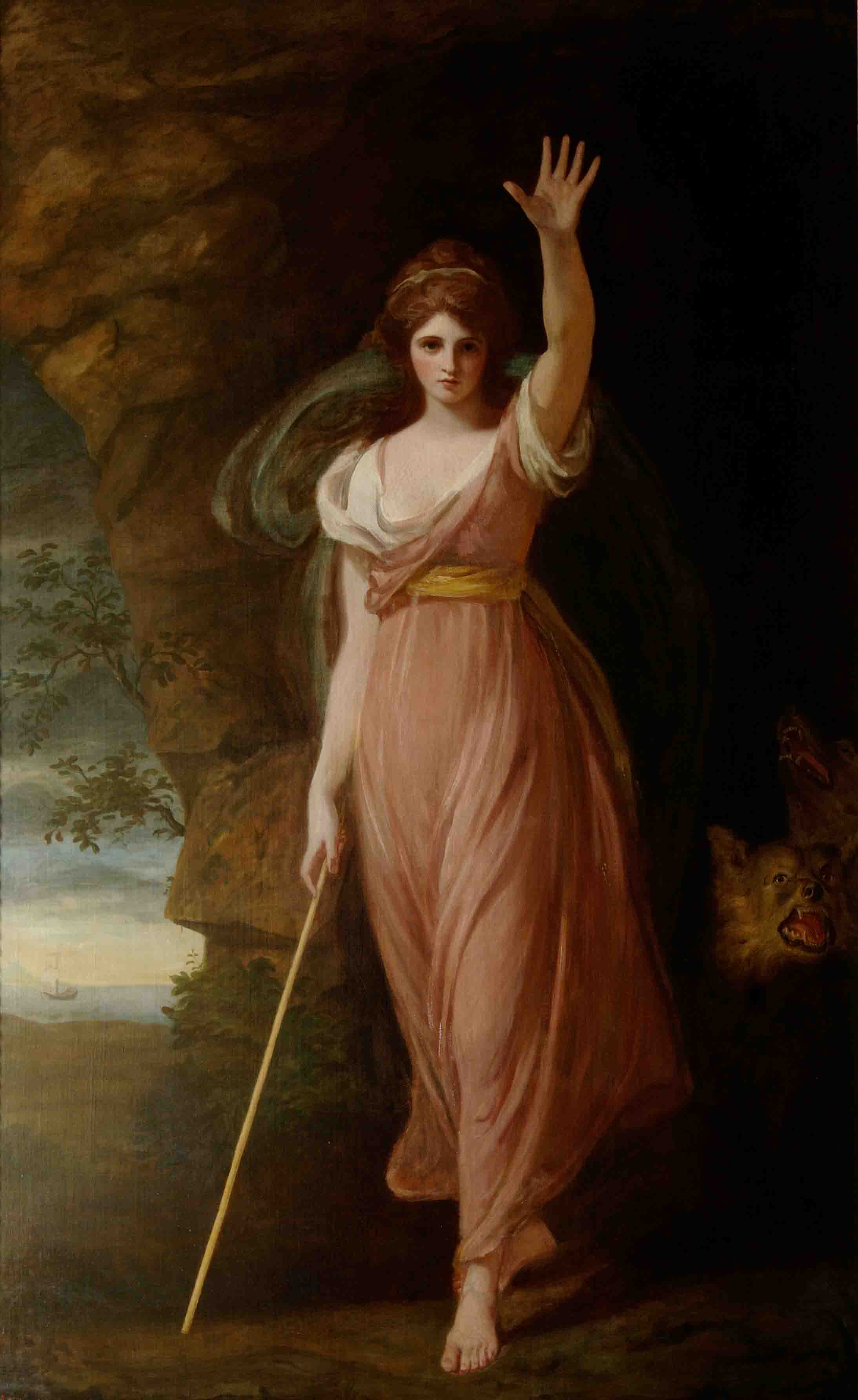 Emma as Circe, 1782, by George Romney © The National Trust, Waddesdon Manor