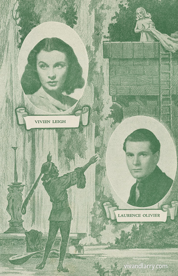 Chicago programme for Romeo and Juliet, starring Laurence Olivier and Vivien Leigh