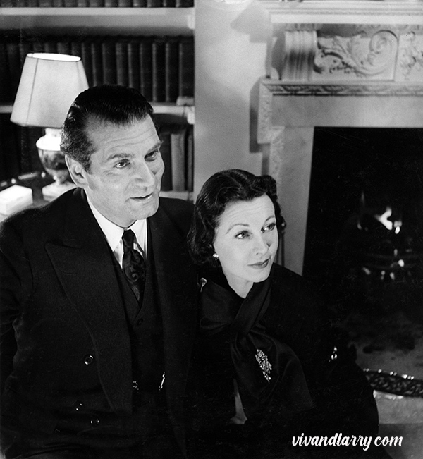 Vivien Leigh and Laurence Olivier, photographed by Tom Blau at Durham Cottage, 1951